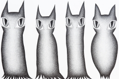 Alexandra Uccusic, Ziemlich zutrauliche Blätterkleidkatzen, 2016